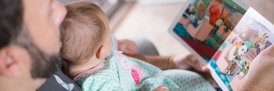 Soutien de la famille - Papa Bébé - Lire à bébé