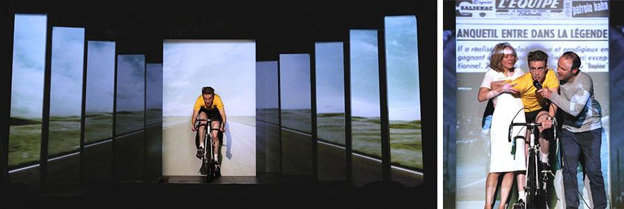 Théâtre - Anquetil tout seul